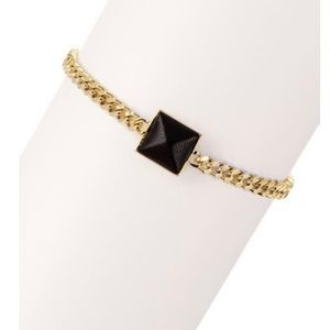 Vince Camuto Gold Blow Up Pyramid Chain Bracelet